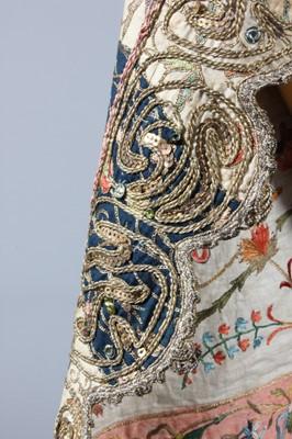 Lot 291-A fine embroidered lady's anteri robe, Ottoman,...