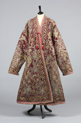 Lot 312 - A fine embroidered velvet nobleman's robe,...