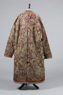 Lot 312-A fine embroidered velvet nobleman's robe,...