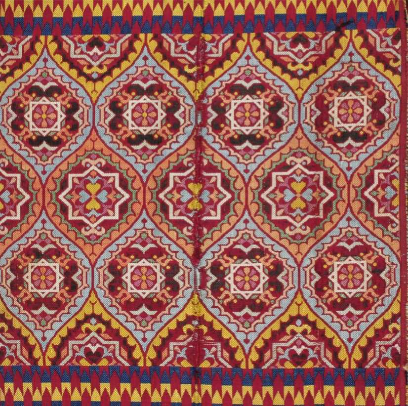 Lot 272 - A brocaded silk bridal sash, (hizam), Fez,...