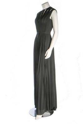 Lot 203 - A Madame Grès couture black silk jersey...